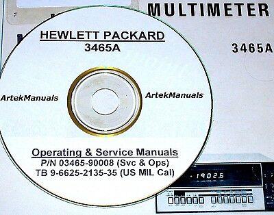 Hewlett Packard Operating /& Service Manual w//schematics for 3465B Multimeter