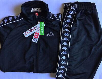 NWT Kappa Banda Tracksuit 222 Men's Large Black Jacket and Pants 3500060