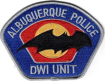 Albuquerque Police DWI Unit  patch New Mexico silver NEW