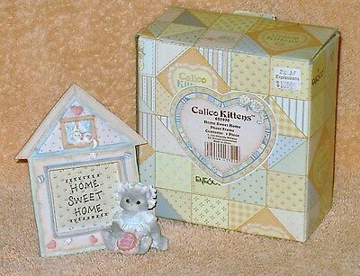 "CALICO KITTENS ""HOME SWEET HOME "" FRAME  NIB"