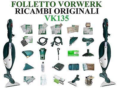 Ricambi Sacchetti Filtri Accessori Spazzole ORIGINALI Folletto Vorwerk VK135