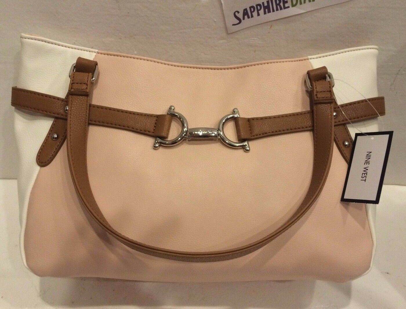 NINE WEST Peach & White Purse Bag Great Gift! Brand New! 604