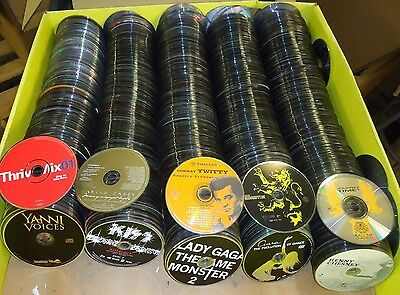 Music CD Lot of 50 - Discs only - FREE SHIPPING! Artists like Beyonce, Kiss, Em