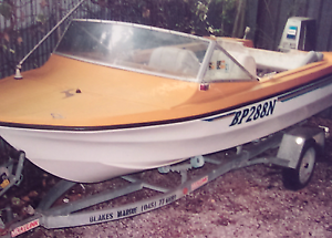 Academy Sports Fisher runabout ski or fishing boat, boat trailer Ingle Farm Salisbury Area Preview