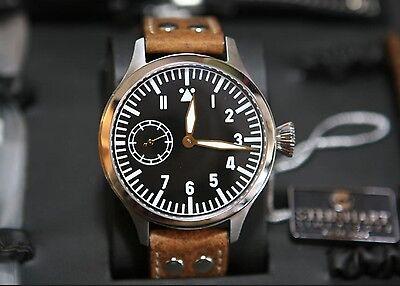 New Steinhart watch Nav.b-Uhr historical Luftwaffe Limited Gold Edition 47mm for sale  Finland
