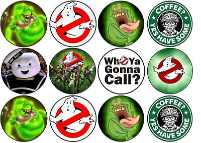 Ghostbusters Cupcake Toppers (Ghostbusters Theme Edible Wafer Cup Cake Disc Topper)