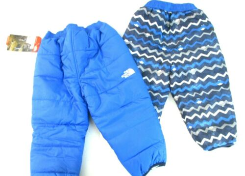 Kids Snow Sport Pants The North Face Reversible Insulated JAKE Blue / LINES