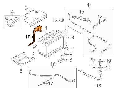 AUDI A6 C7 Negative Battery Cable OEM 8X0915181 New Genuine