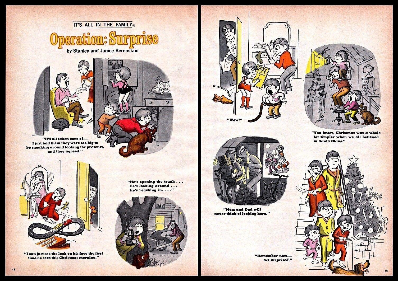 1973 Operation Surprise Christmas Family Comics Drawing Vintage Print Art 1970s Ebay