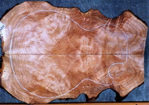 Maple SWIRL Burl Wood  #6851 Luthier Electric Guitar Top set 22+ x 15 1/2 x 3/8