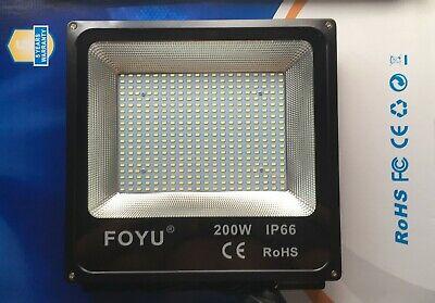 Faro Foco Proyector LED 200W Vatios Exterior IP65 Luz Blanca Alta Luminosidad