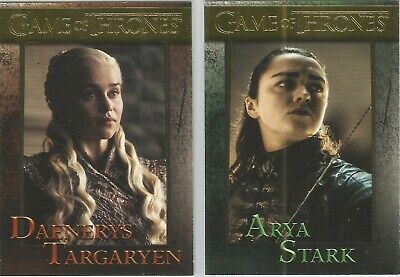 Game of Thrones Season 8 - Complete 60 Card GOLD Parallel Base Set