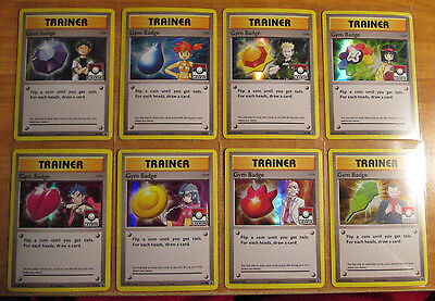 NM COMPLETE Pokemon GYM BADGE Card BLACK STAR PROMO Set Holo LEAGUE XY203-XY210 for sale  Shipping to Nigeria