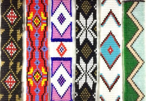 NEW LOOM NATIVE STYLE INSPIRED HANDMADE GLASS BEADS DIY CRAFTS SCRAPBOOK STRIP