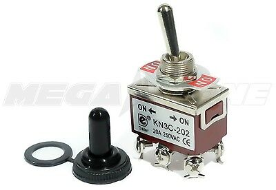 Toggle Switch Heavy Duty 20a125v Dpdt On-on Wwaterproof Boot... Usa Seller