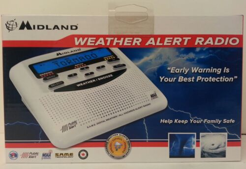 Midland WR120 EZ NOAA Weather Alert All Hazard Public Alert Certified Radio NEW!
