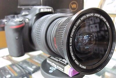 Ultra Wide Angle Macro Fisheye lens for Nikon d5600 d3200 d3400  d3300 10.5 24mm