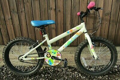 Apollo Woodland Charm Young Girls Mountain Bike Bicycle 18 in Wheels Tyres Cream