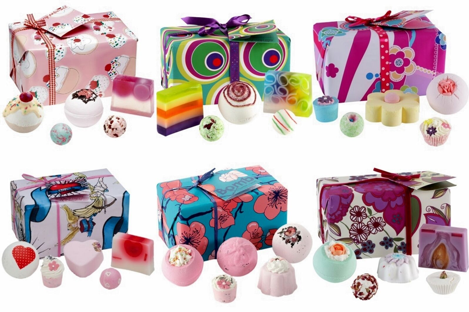 NEW * BOMB COSMETICS * BATH PAMPER GIFT SETS PRE WRAPPED ALL WITH FREE POSTAGE