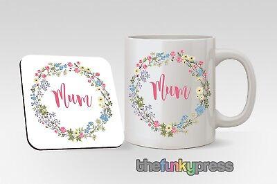 Muttertag Tassen Untersetzer Passende Set Geschenk Personalisiert Oma Oma Mutter
