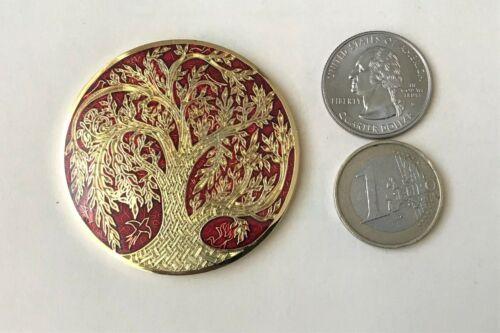 ☆☆ CToL geocoin Celtic Tree of Life Scavok VHTF Red / Gold Unactivated