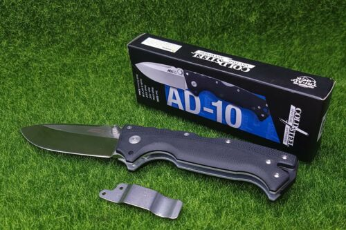"Cold Steel AD-10, Drop Point, Plain Edge 3.5"" Folding Blade Knife, G10 - 28DD"