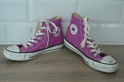 CONVERSE SIZE 4 ALL STAR HIGH TOPS PURPLE / PINK WOMENS GIRLS VGC (Converse Girls High Tops)