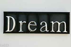 Dream free standing metal letters other words love for Furniture 5 letters word whizzle