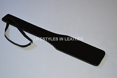 "Leather Long Handled Paddle 12""  NEW FREE SHIP on Rummage"