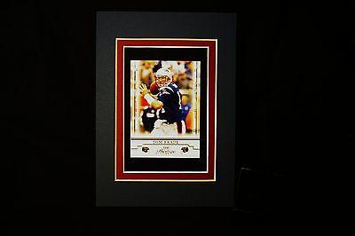 Rare Beautiful Tom Brady New England Patriots Sports Portrait Old Football Card