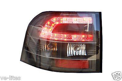 LED TAIL LIGHTS Black Housing for Holden Commodore VE SV6 SS All VE Series Utes