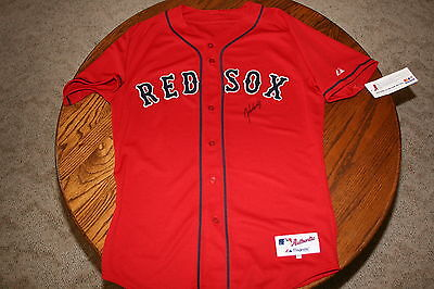 JOHN SMOLTZ AUTOGRAPHED AUTO SIGNED BOSTON RED SOX JERSEY RED COA