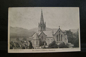 St-Johns-Church-Keswick-Vintage-RP-Postcard-Postmarked-Sent-1904-Extra-Thick