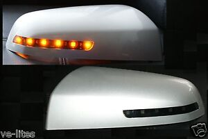 Amber-LED-mirror-covers-for-HSV-Commodore-VE-Silver-Finish-Maloo-R8-SSV-SV6-GTS