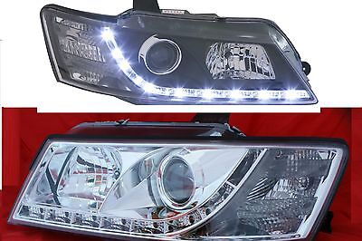 Chrome Projector Headlights to suit Holden Commodore All VZ Models LED DRL Like
