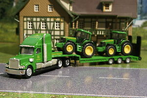 Siku 1837 - John Deere Truck with Low Loader, 2x  6820  Tractors H0 Scale 1:87