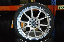 "4 SET 17"" SPORT ALLOY WITH TYRES MULTI 4 STUDS + MINT CONDITION Virginia Brisbane North East Preview"