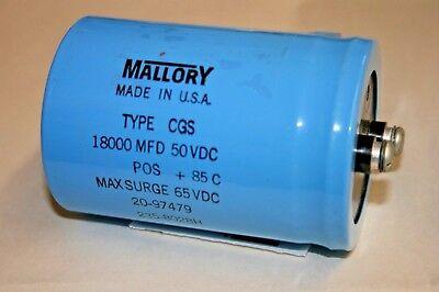 Mallory Cgs 18000mfd - 50vdc Aluminum Electrolytic Capacitor 101-607