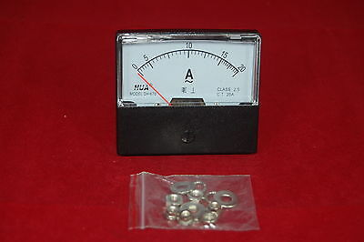 Ac 20a Analog Ammeter Panel Amp Current Meter Ac 0-20a 6070mm Directly Connect