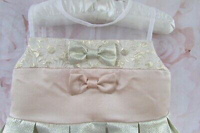 Blush Pink Gold Christening Party Occasion Dress Hucklebones London 18-24 £80