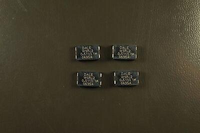 Lot Of 4 Wsr2r5110fta Vishay Dale Power Metal Strip Resistor 0.511 Ohm 1 2w Nos