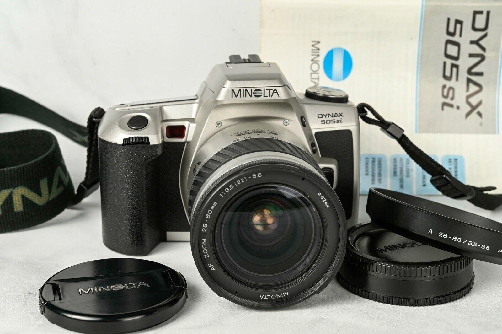 Minolta Dynax 505si SLR camera with Minolta AF Zoom 28-80mm lens // Maxxum Htsi
