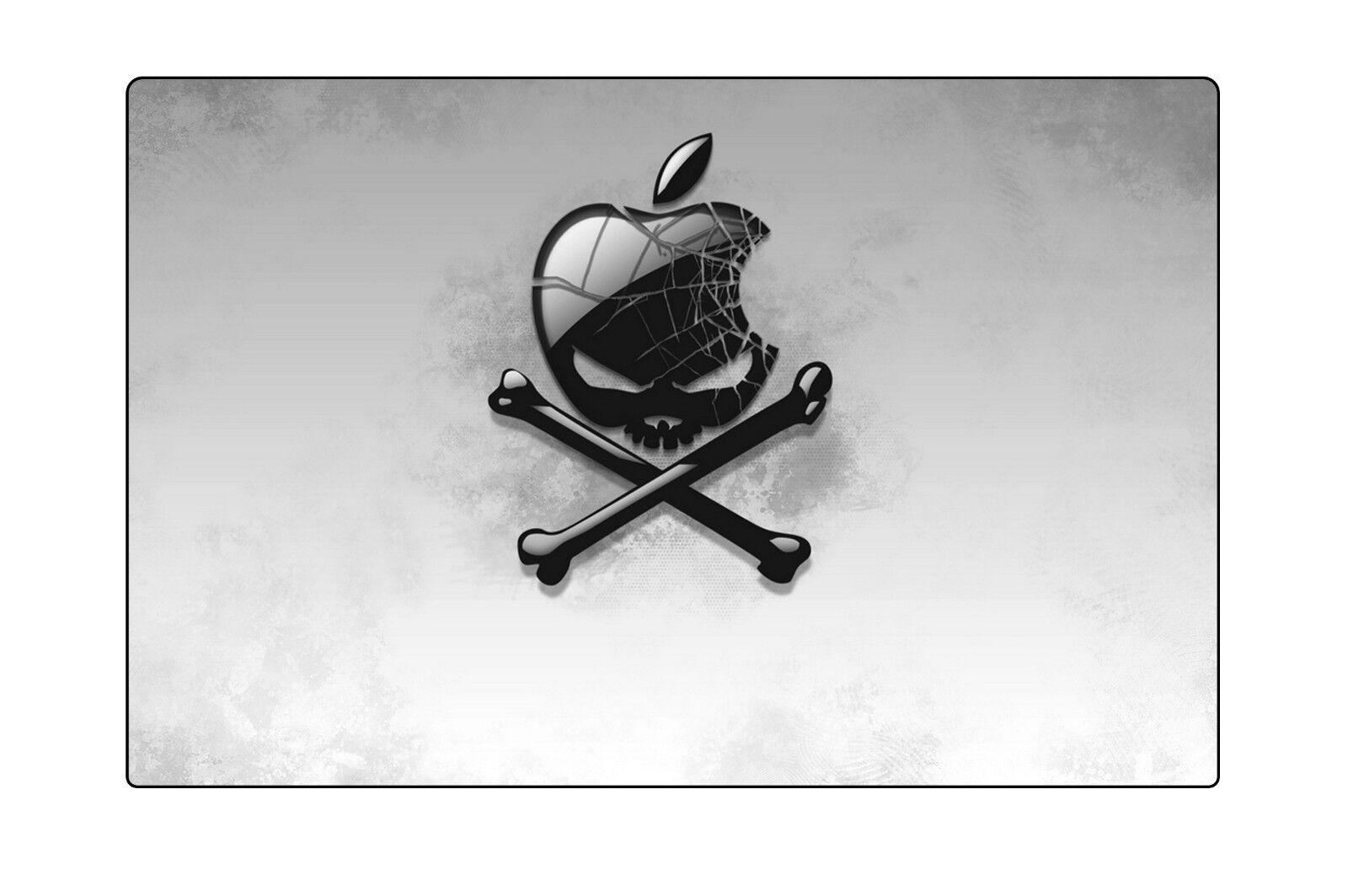 Black Apple Mousemat desktop laptop gaming computing non sli