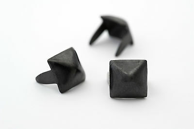 1/4 inch black small pyramid studs for clothing - Bag of 100 - StudsAndSpikes