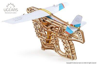 UGEARS 70075 3D Holz-Modellbausatz Flugzeugstarter 198 Teile