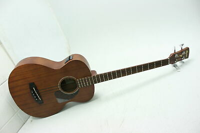 DAMAGED Ibanez PCBE12MHOPN 4-String Acoustic Bass Guitar w Under Saddle Pickup