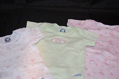 Bodysuit Onesies (Gerber Baby Onesies Infant Body Suit Girl Clothes Lot 3 White Pink Green Flowers)