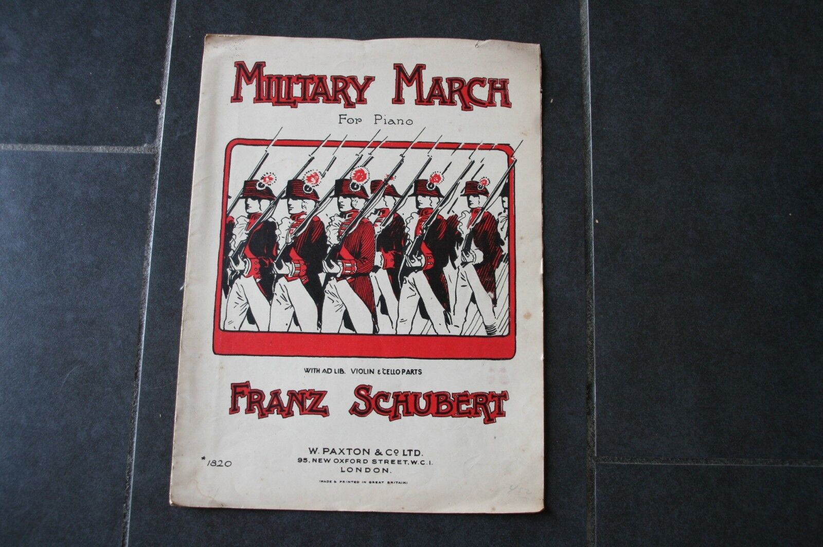 ANCIENNE PARTITION MUSIQUE MILITARY MARCH.