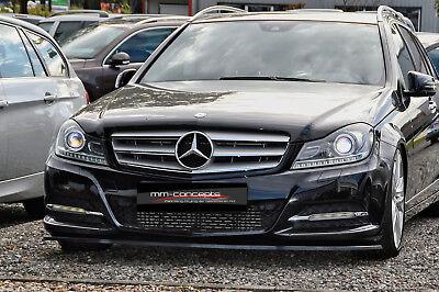 CUP Spoilerlippe für Mercedes C-Klasse W204 S204 C204 Frontspoiler Schwert