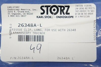 Karl Storz 26348a-l Tissue Clip Long For Use With 26348 Laparoscopy Trainer